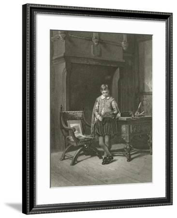 The Lady's Page--Framed Giclee Print