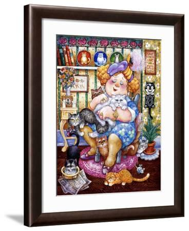 The Lady Who Loves Cats-Bill Bell-Framed Giclee Print