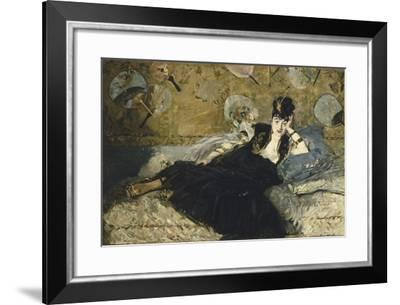 The Lady with Fans, 1873-Edouard Manet-Framed Giclee Print