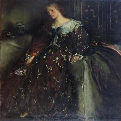 The Lady with the Green Fan, Portrait of Mrs Hacon-Charles Haslewood Shannon-Giclee Print