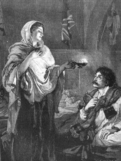 The Lady with the Lamp, C1880--Giclee Print