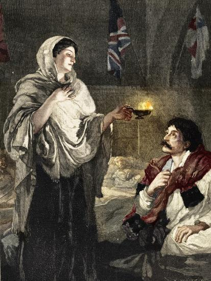 'The Lady with the Lamp', c1880-Unknown-Giclee Print