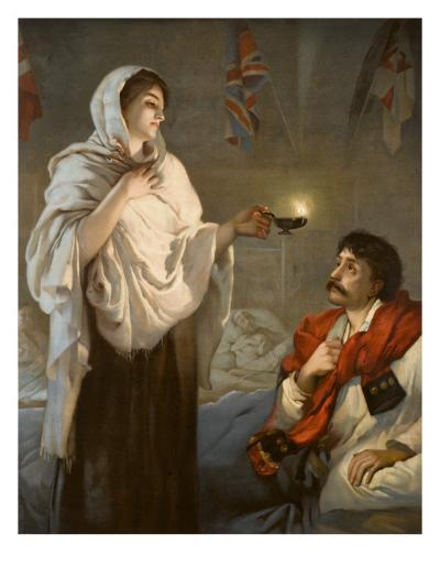 The Lady with the Lamp Florence Nightingale--Giclee Print