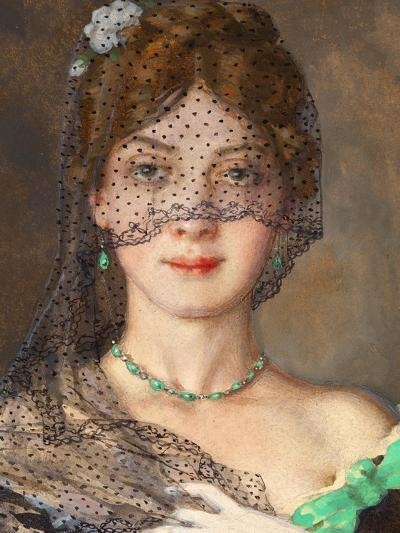The Lady with the Veil (Manon Lescau)-Konstantin Andreyevich Somov-Giclee Print