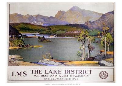 The Lake District LMS--Giclee Print