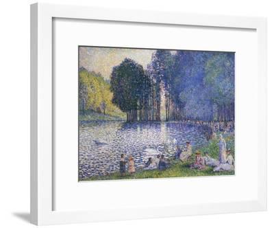 The Lake in the Bois de Boulogne, circa 1899-Henri Edmond Cross-Framed Giclee Print
