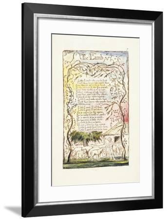 The Lamb, 1789-William Blake-Framed Giclee Print