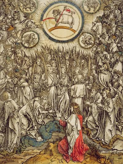 The Lamb of God Appears on Mount Sion, 1498-Albrecht D?rer-Giclee Print