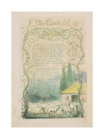 'The Lamb,' Plate 17 from 'Songs of Innocence,' 1789-William Blake-Giclee Print