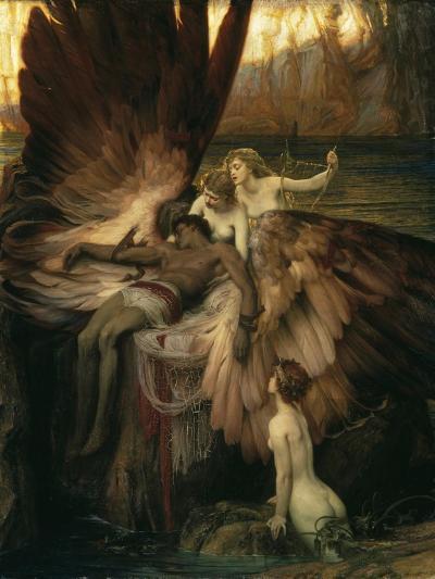 The Lament for Icarus-Herbert Draper-Giclee Print