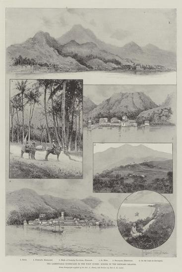 The Lamentable Hurricane in the West Indies, Scenes in the Leeward Islands-Joseph Holland Tringham-Giclee Print
