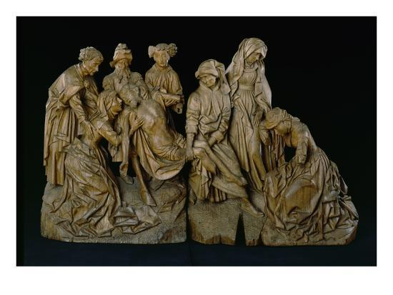 The Lamentation, 1460 (Oak with Traces of Polychromy)- Master of the Arenberg Lamentation-Giclee Print
