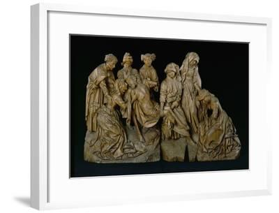The Lamentation, 1460 (Oak with Traces of Polychromy)- Master of the Arenberg Lamentation-Framed Giclee Print