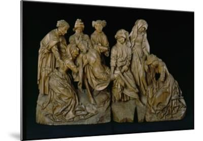 The Lamentation, 1460 (Oak with Traces of Polychromy)- Master of the Arenberg Lamentation-Mounted Giclee Print