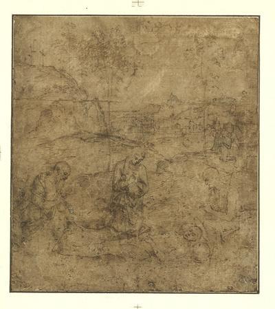The Lamentation for Christ-Pietro Perugino-Lithograph