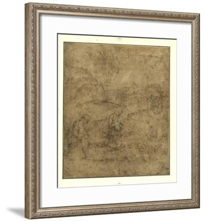 The Lamentation for Christ-Pietro Perugino-Framed Lithograph