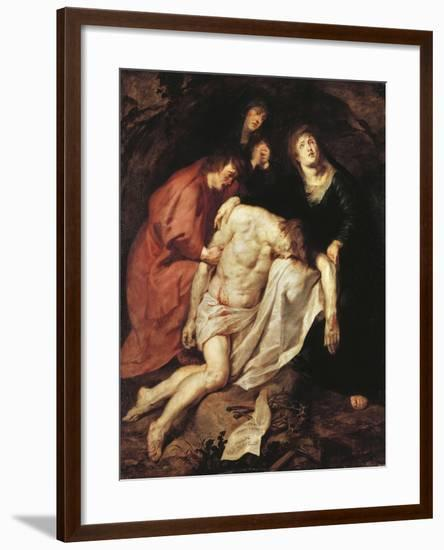 The Lamentation of Christ, C.1616/17-Sir Anthony Van Dyck-Framed Giclee Print