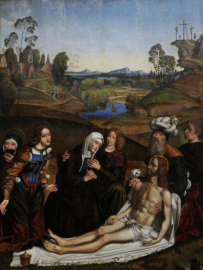The Lamentation of Christ with a Donor, C.1505-Domenico Panetti-Giclee Print