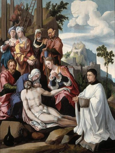 The Lamentation over Christ with a Donor, C.1535-Jan van Scorel-Giclee Print
