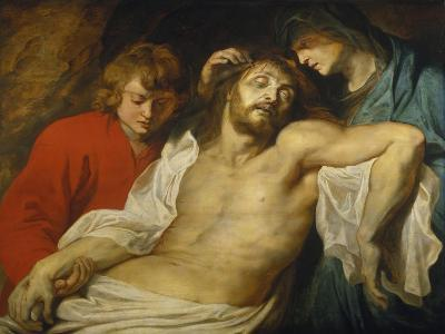 The Lamentation over the Dead Christ with the Virgin and St. John, about 1613-Peter Paul Rubens-Giclee Print
