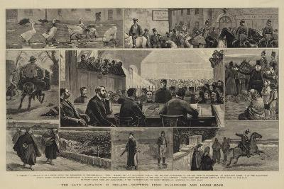 The Land Agitation in Ireland, Sketches from Ballinrobe and Lough Mask-John Charles Dollman-Giclee Print