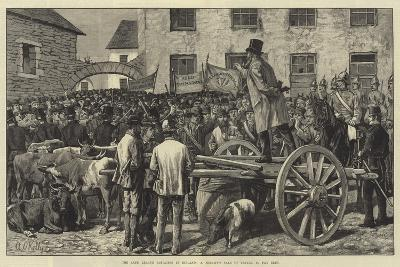 The Land League Agitation in Ireland, a Sheriff's Sale of Cattle, to Pay Rent-Aloysius O'Kelly-Giclee Print