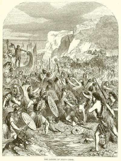 The Landing of Julius Caesar--Giclee Print