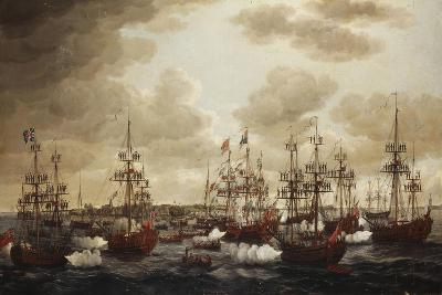 The Landing of Princess Charlotte at Harwich in 1761, 1762-John the Elder Cleveley-Giclee Print