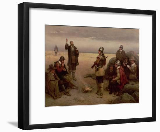 The Landing of the Pilgrim Fathers, 1620-George Henry Boughton-Framed Premium Giclee Print