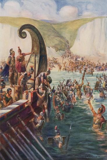 The Landing of the Romans in Britain, 54 Bc-Joseph Ratcliffe Skelton-Giclee Print