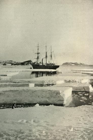 'The Landing-Place Wharf Broken Up', c1908, (1909)-Unknown-Photographic Print