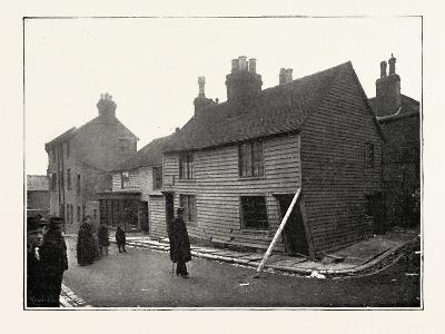 The Landslip at Sandgate: in Chapel Street, UK, 1893--Giclee Print