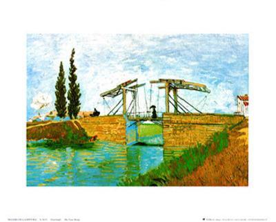 The Langlois Drawbridge-Vincent van Gogh-Art Print