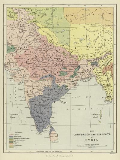 The Languages and Dialects of India--Giclee Print