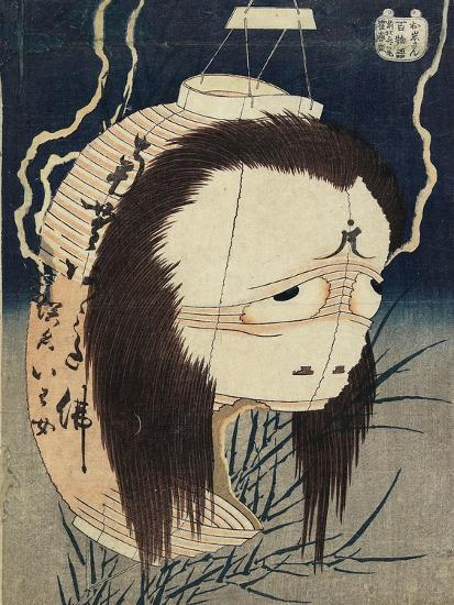 The Lantern Ghost, Iwa, C. 1831-1832-Katsushika Hokusai-Giclee Print