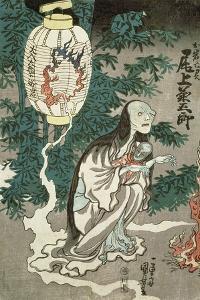 The Lantern of the Ghost of Sifigured O-Iwa, Edo Period, 1852, Japanese