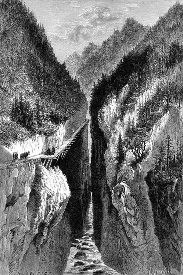 The Lantzan-Kiang-Hogg's Gorge, C1890--Giclee Print