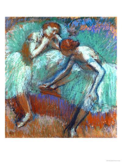 The Large Green Dancers, 1898-1900-Edgar Degas-Giclee Print