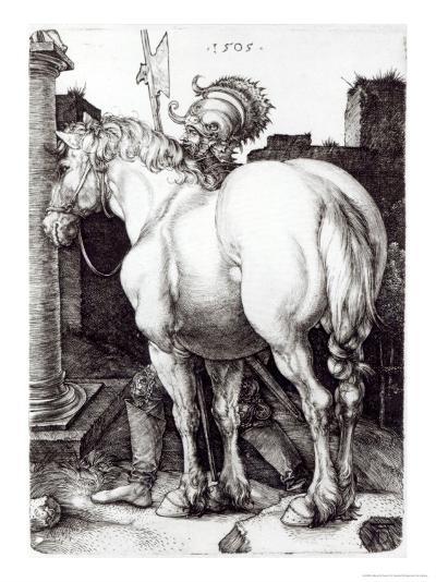 The Large Horse, 1505-Albrecht D?rer-Giclee Print