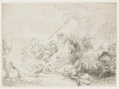 The Large Lion Hunt, 1641-Rembrandt van Rijn-Giclee Print