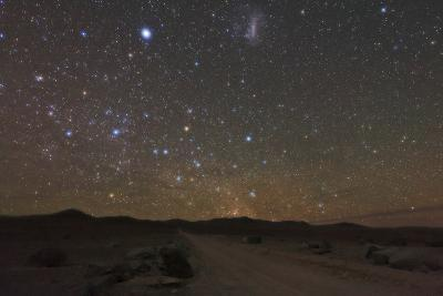The Large Magellanic Cloud and Bright Star Canopus in the Southern Sky over the Atacama Desert-Babak Tafreshi-Photographic Print