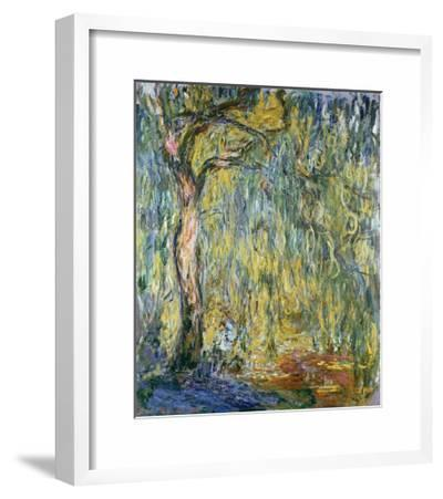 The Large Willow at Giverny, 1918-Claude Monet-Framed Giclee Print