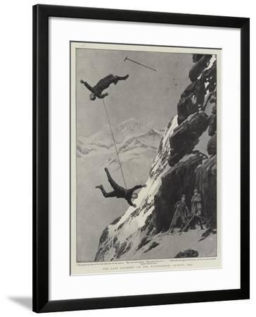 The Last Accident on the Matterhorn, August 1893-Joseph Nash-Framed Giclee Print