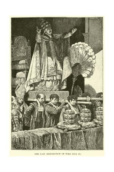The Last Benediction of Pope Pius IX--Giclee Print