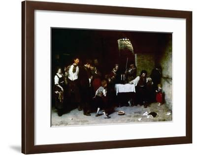 The Last Day of a Condemned Man in Hungary, 1870-Mihaly Munkacsy-Framed Giclee Print