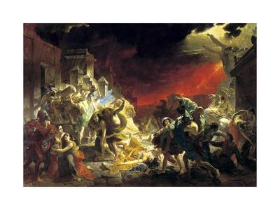 Karl Bryullov The Last Day of Pompeii Giclee Canvas Print Poster LARGE SIZE