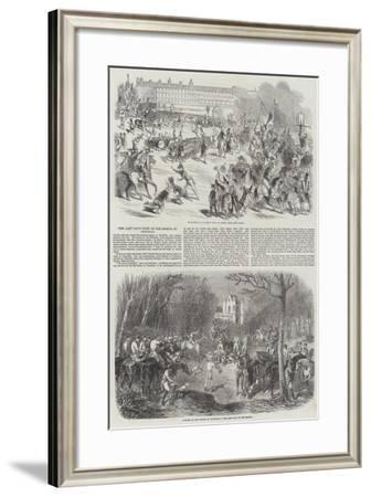 The Last Day's Hunt of the Season at Chantilly--Framed Giclee Print