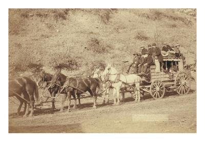 The Last Deadwood Coach-John C^H^ Grabill-Art Print