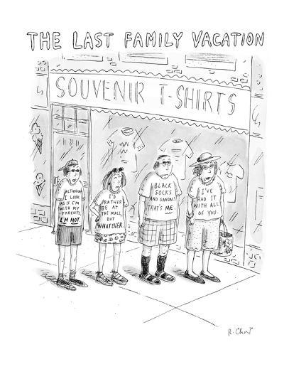 The Last Family Vacation - New Yorker Cartoon-Roz Chast-Premium Giclee Print