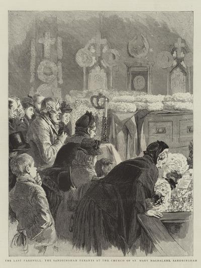 The Last Farewell, the Sandringham Tenants at the Church of St Mary Magdalene, Sandringham-Robert Barnes-Giclee Print